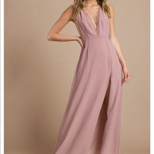 Tobi Raelyn High Slit Mauve Maxi Dress